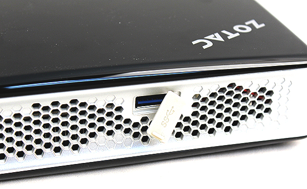 There is an additional USB 3.0 port on the top side.
