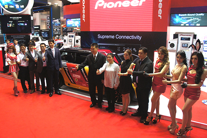 The event was graced by key Pioneer executives from around the region as well as partners from Rocket Sound, one of Thailand's largest aftermarket in-car entertainment specialists.