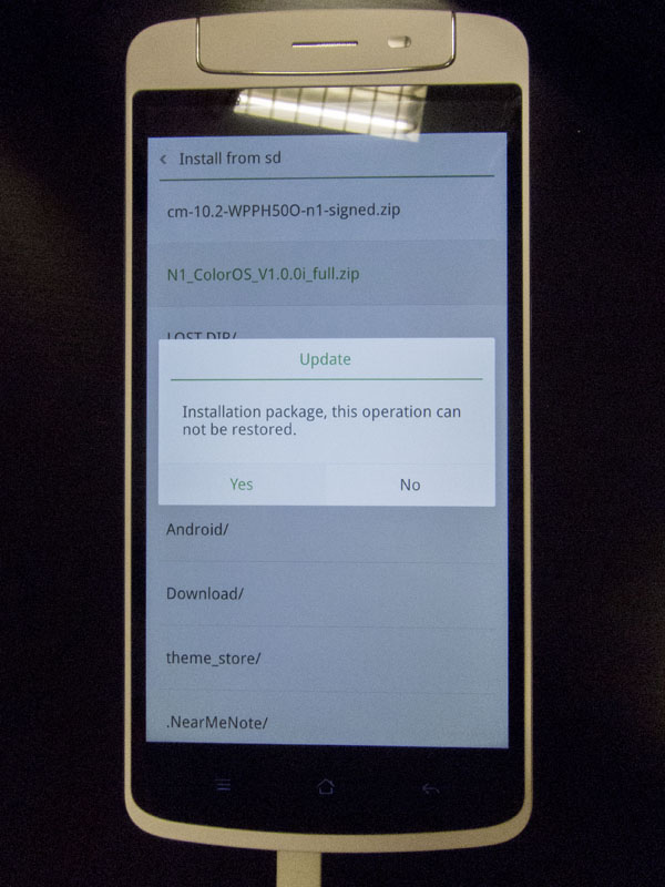 Flashing ROMs is that easy with Oppo N1