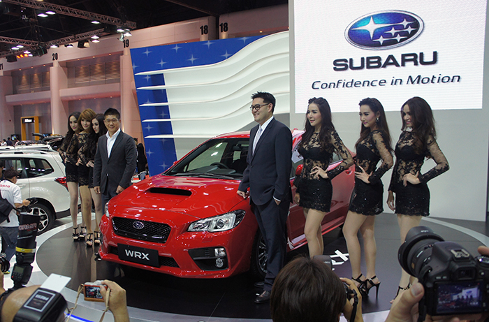 At the Bangkok Motor Show, Subaru took the opportunity to officially launch the new WRX sports saloon.