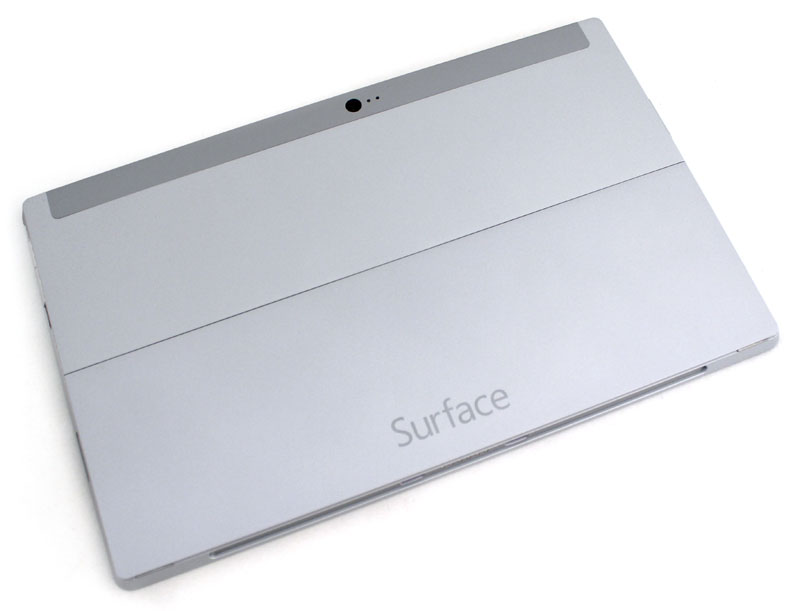 The Surface 2 now sports a matte silver-gray rear. Not only does it look and feel nice, it's also completely fingerprint resistant.