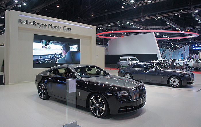 Rolls Royce brought out their new Wraith sports coupe.