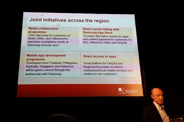 The SingTel Group and Samsung unveiled four joint initiatives to accelerate mobile data growth across the region.