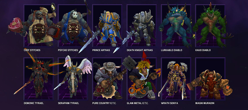 You can also buy extra skins for each hero. Our favorite is Diablo's murloc outfit, Lurkablo.