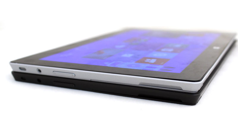 It's hard to tell that the Surface 2 is slimmer and lighter, but it does have a cleaner design.