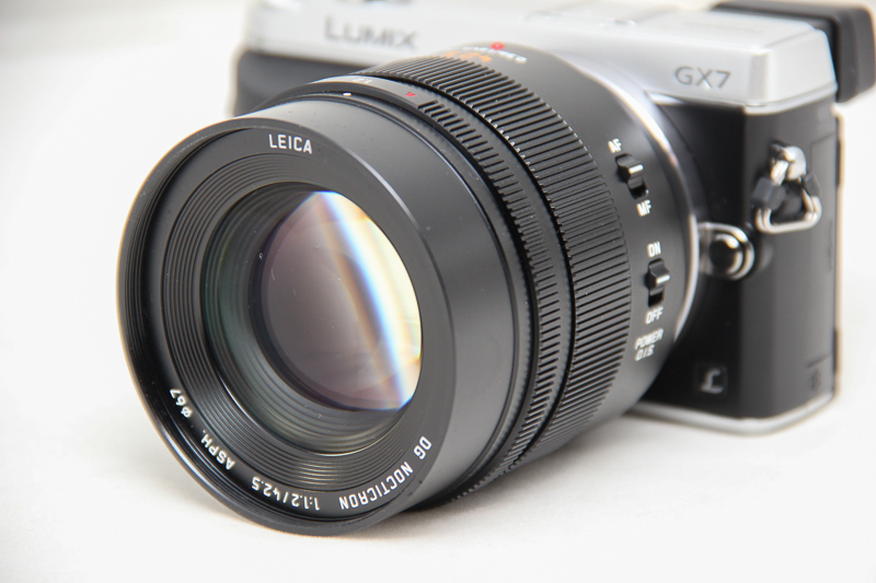 The 42.5mm is hefty, just nice on a GX7 but not on a smaller camera.
