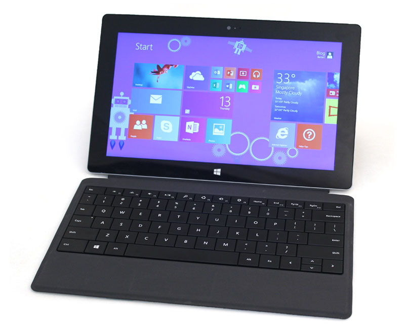 The much improved Type Cover 2 and integrated kickstand of the Surface 2 should appeal to consumers who want to get work done on the go in a seamless manner.