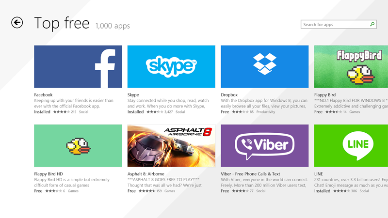 Major apps are still missing from the Windows Store.