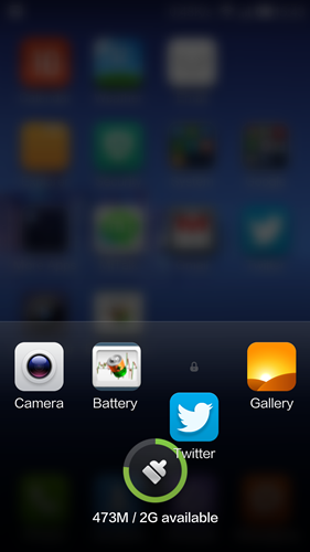 Drag the app down a little to reveal a lock icon.