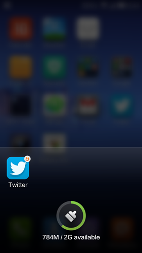 """Hit the brush icon to clear all the apps. The """"locked"""" app will still run in the background."""