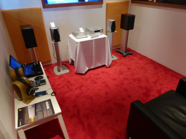 In fact, there's even a small room for audiophiles to test out the various high-end Sony  audio products.