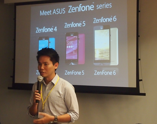 Mr. Derek Cheng, Product Manager (Smartphones) for ASUS Singapore gave an overview of the ZenFones series.