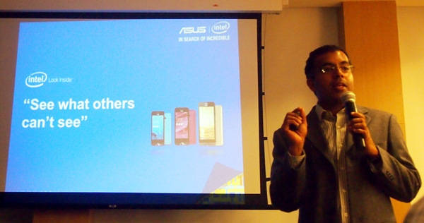 Mr. George Chacko, Regional Director of Intel for Tablet Product Marketing explained the benefits of using Intel processors in mobile devices.