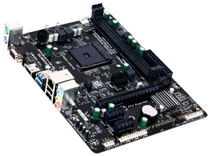 The Gigabyte GA-AM1M-S2H motherboard. (Image Source: Gigabyte)