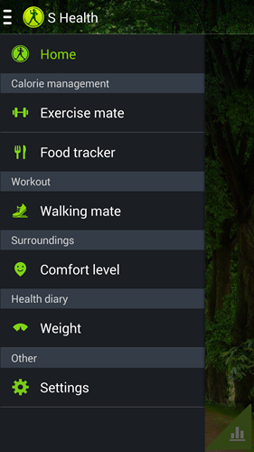 This is the S Health app that can be found on recent Samsung Galaxy smartphones