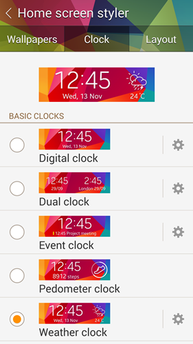 You have 15 different clock faces to choose from.