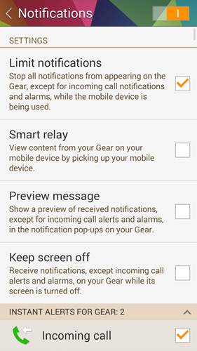 The first half of the Notifications section allows you to decide how you want to receive your notifications.