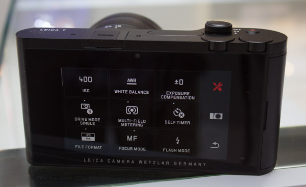 While the tools icon holds settings like drive mode, self-timer and white balance.