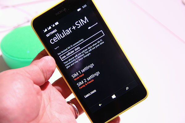 The Lumia 630 Dual Sim is the dual-SIM variant of the Lumia 630 (duh!).