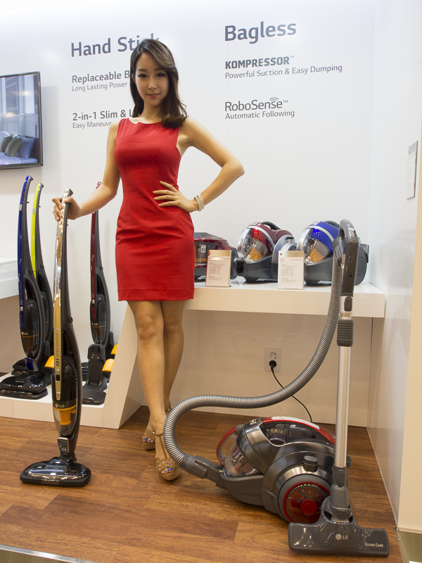 Don't worry, the vacuum cleaner isn't following you around because it's possessed. Instead, the Kompressor RoboSense (right) automatically keeps itself close to you so you'll never have to let it go.