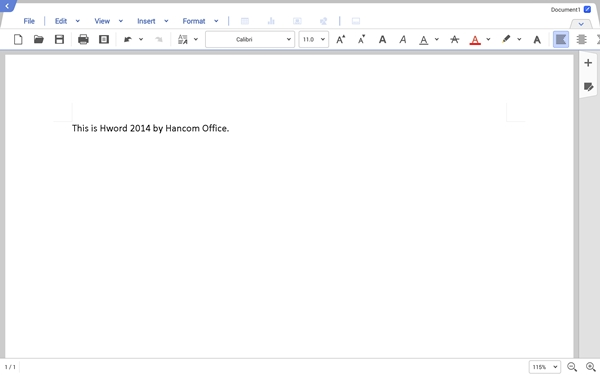Hword 2014 has a close resemblance to Microsoft Word on the PC.
