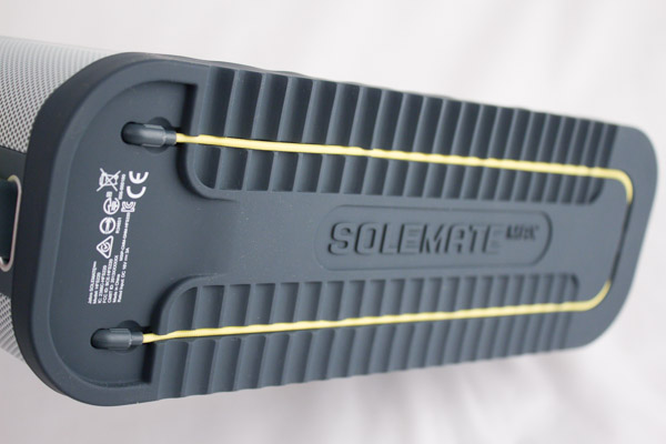 The shoe tread design helps hold your Solemate Max in one place and it's even able to conceal an audio cable too.