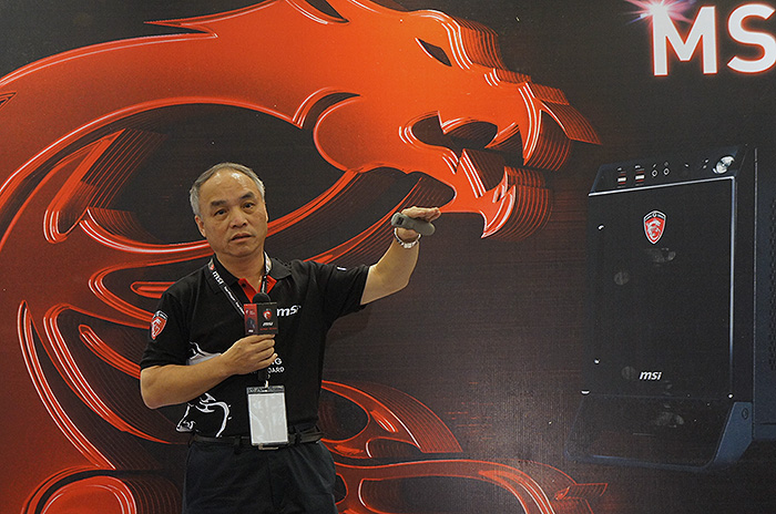 MSI Senior Vice-President and Co-Founder, Henry Lu, sharing the company's results in the past year and explaining how they achieved it.