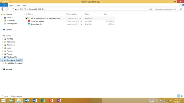 You can drag and drop files from the different folders into the removable disk (e.g thumbdrive).