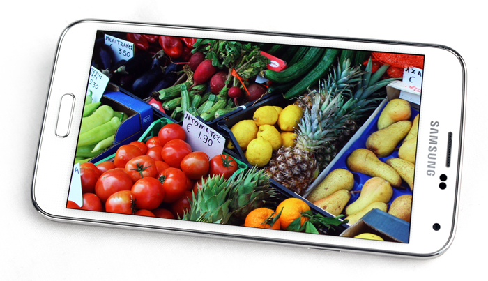 Samsung was supposed to use a QHD display for the Galaxy S5, but high costs of making the panels prevented it from doing so.