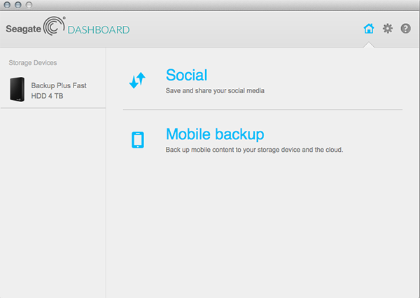 The latest Seagate Dashboard app now lets you backup your iOS or Android mobile device.