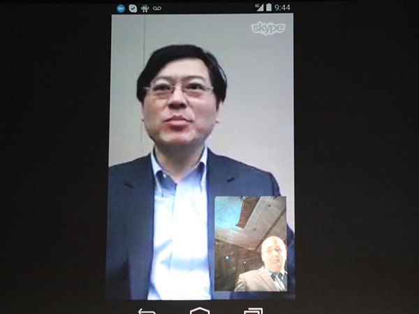 Intel CEO, Brian Krzanich, performed a live Skype call with Lenovo CEO, Yang Yuanqing, on a device equipped with their latest XMM 7260 Cat 6 LTE modem.