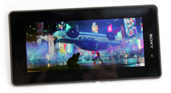 The great display and fantastic sound make the Z2 a perfect personal movie watching machine.