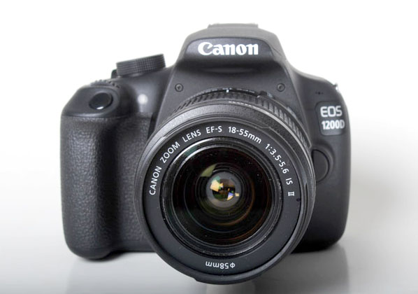 The EOS 1200D has a deep handgrip that makes for easy handling.