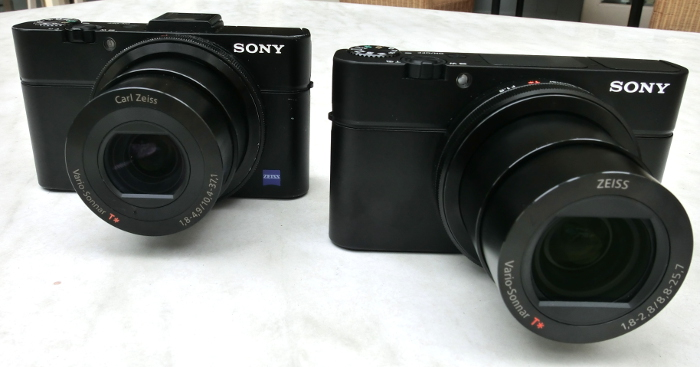 The RX100 III (right) looks similar to the RX100 II. So what has changed? Read on to find out.