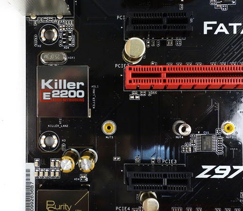 This is probably the main reason behind the board's moniker; the Killer E2200 Gigabit LAN controller.