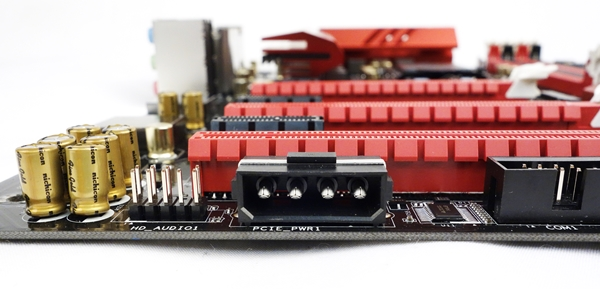 The Molex power connector will provide more power that is crucial for stable operation in a multi-GPU setup.