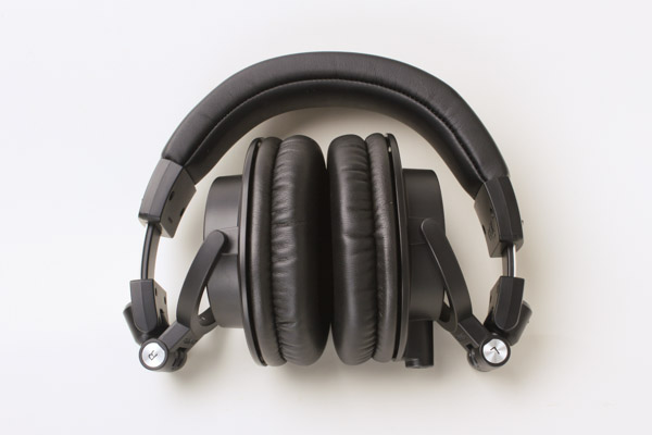 The ATH-M50x headphones fold up for easy transport.