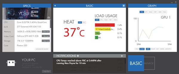 As A System Monitoring Software Cam Keeps Tabs On Crucial Pc Status That Range From Network Usage Temperatures Of Components And Their Load Usage Over