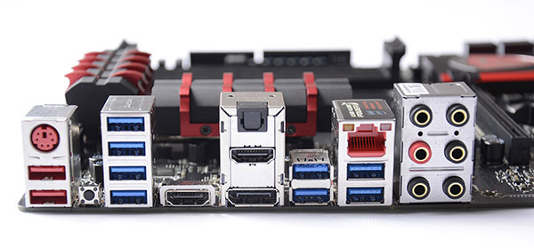 As far as the back I/O is concerned, there isn't any lack of ports for the mainstream user.