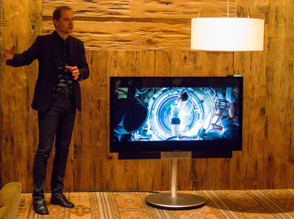 B&O Chief Designer Torsten Valeur introducing the BeoVision Avant.