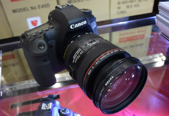 The Canon 6D is a full-frame camera with a 20.2MP CMOS sensor that's going for about $2,400 (body only) after the $150 cash back offer. Besides the usual freebies, there's also an offer to get the EF24-70 f2.8L II USM as an additional purchase at $2,749.