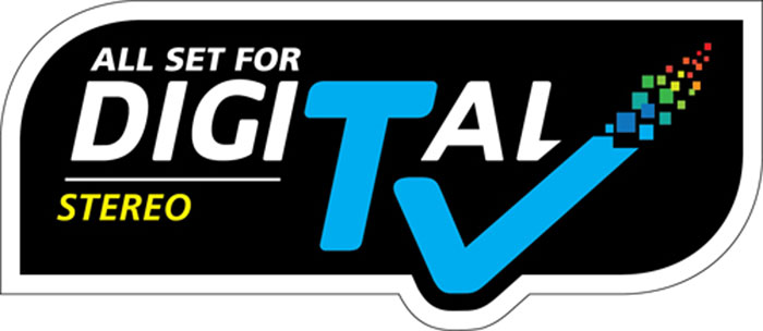 If you see this label, it means that the product supports Singapore's DVB-T2 channels in stereo sound.