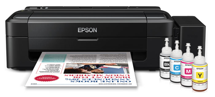 Epson's ink tank system printers (such as this L110) use ink bottles that cost S$9.90 per bottle.