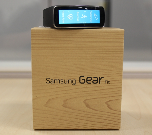 The Gear Fit is one of the three new wearable devices announced by Samsung at Mobile World Congress 2014 in February.