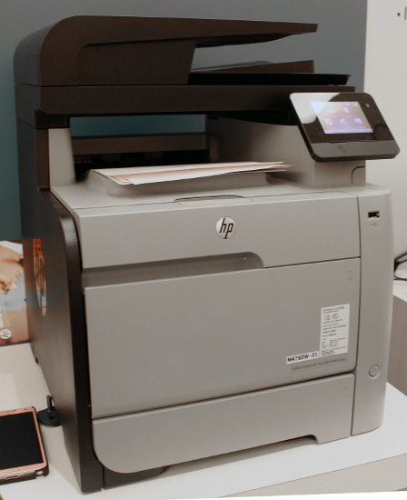 You can print from your smartphone, tablets, and notebooks to the LaserJet Pro M476 at work, home, or on-the-go.