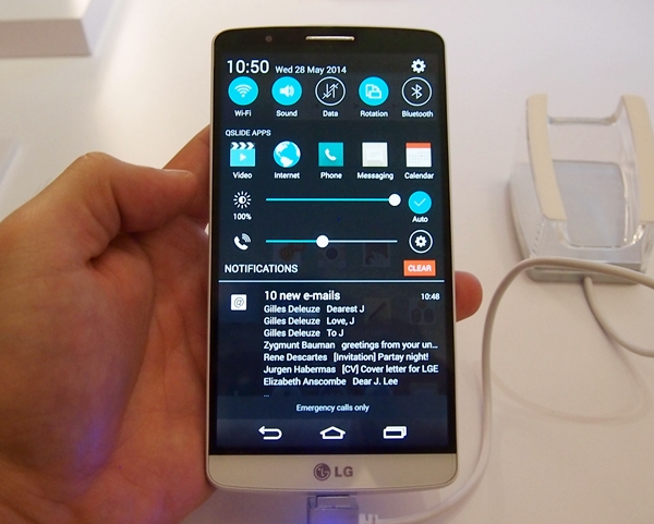 The LG G3 is a phablet, but doesn't feel like one as it is ergonomically designed.