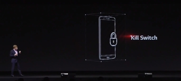 LG may not have included a fingerprint sensor on the G3, but it comes with a kill switch to wipe personal data off the device in the event of theft.