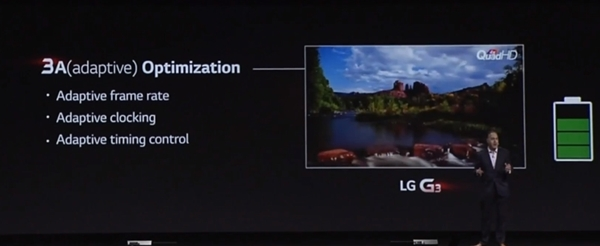LG uses a combination of advanced optimized technologies and an improved battery cathode to ensure that the G3 stays powered up throughout the day.