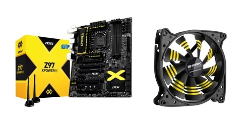 The MSI Z97 XPower AC motherboard comes with a free Sharkoon Shark blade cooling fan.