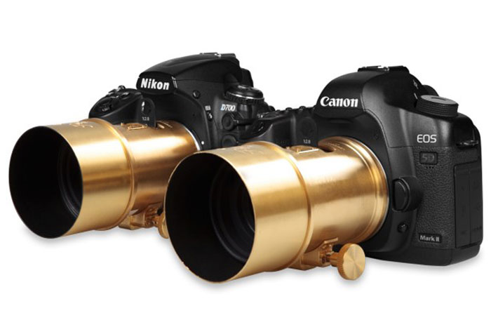 The Petzval lens is compatible with all Canon EF and Nikon F mount analog and digital cameras. (Image source: Lomography.)
